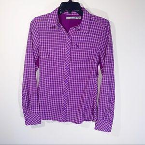 Icebreaker Purple Merino Terra Hiking Shirt Small
